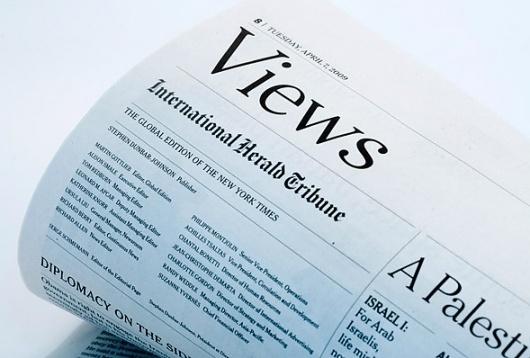 Miguel Buckenmeyer & Co. | Work | International Herald Tribune #print #design #newspaper #grid #typo #typography