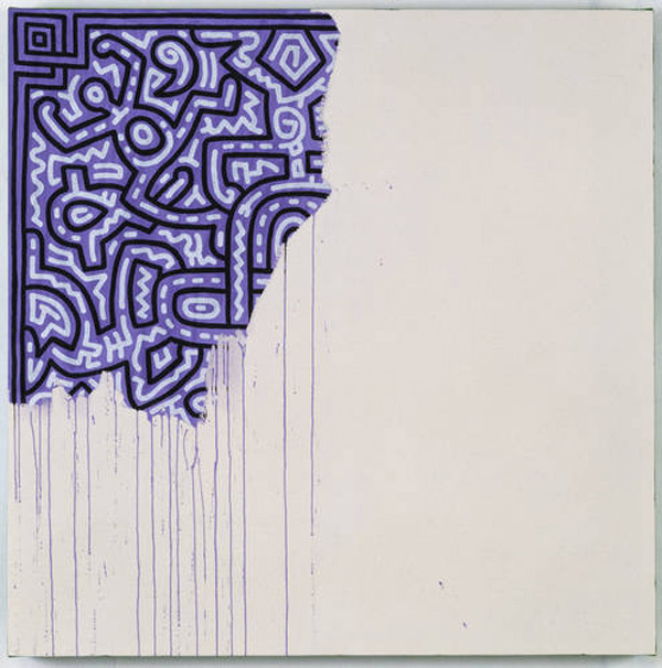 Keith HaringUnfinished Painting1989 #keith #painting #haring