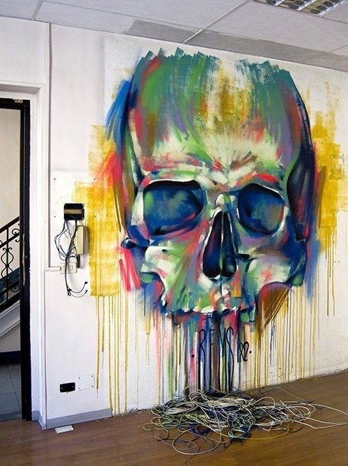 OTAKU GANGSTA #paint #skull