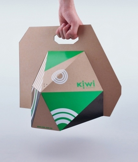 Kiwi : Lovely Package . Curating the very best packaging design. #flat #carrier #dimension #packaging #board #bag #pack #angular