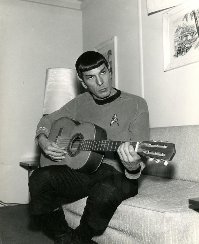 spock playing guitar #spock #guitar #scifi