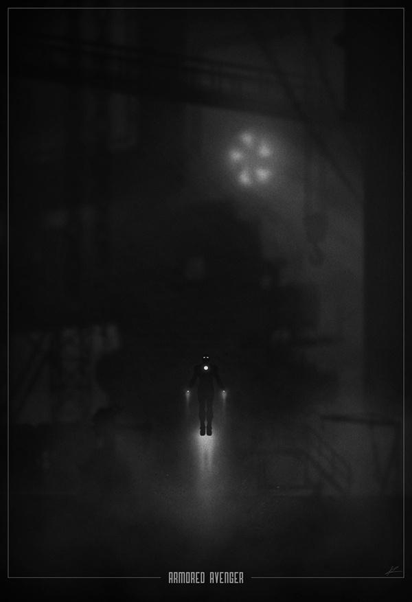 Iron Man noir poster by Marko Manev #movie #white #noir #iron #black #poster #and #man