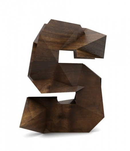Artist Creates Cubist Wood Typography - DesignTAXI.com #letters #sculpture #wood #alphabet #typography