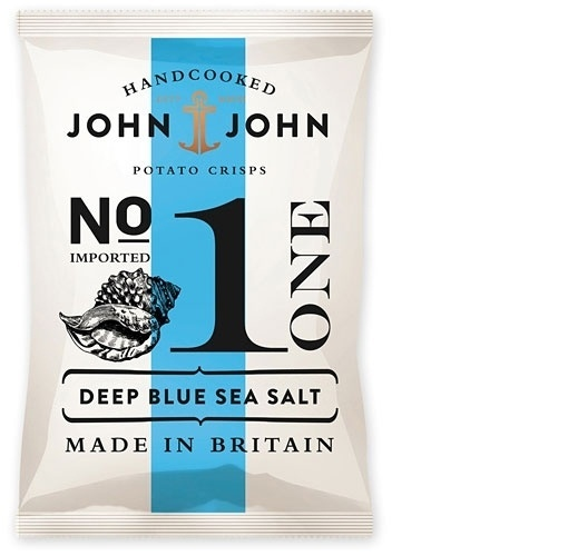 design work life » John & John Crisps Packaging #packaging #design #chips #potato #typography