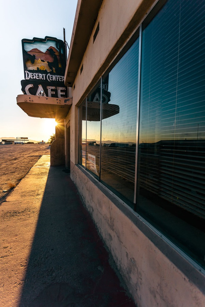 Desert Center California Photography - Mindsparkle Mag Beautiful photoshoot of a deserted diner in California. The shoot is entitled Desert Center, California, and it was captured by Mickey Strider in San Diego. #design #identity #color #photography #graphic #design #gallery #blog #project #mindsparkle #mag #beautiful #portfolio #designer