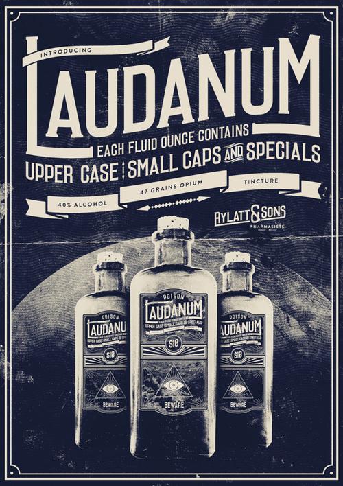 Laudanum promotional Poster #type #retro #poster