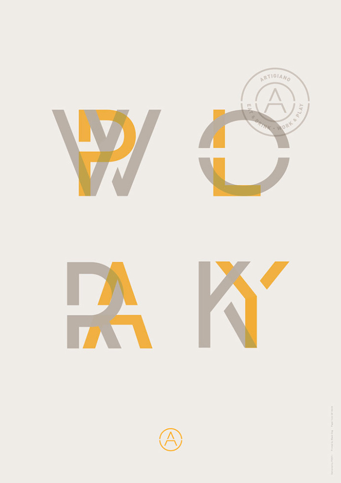 Artigiano by Post #print #graphic design #yellow #typography