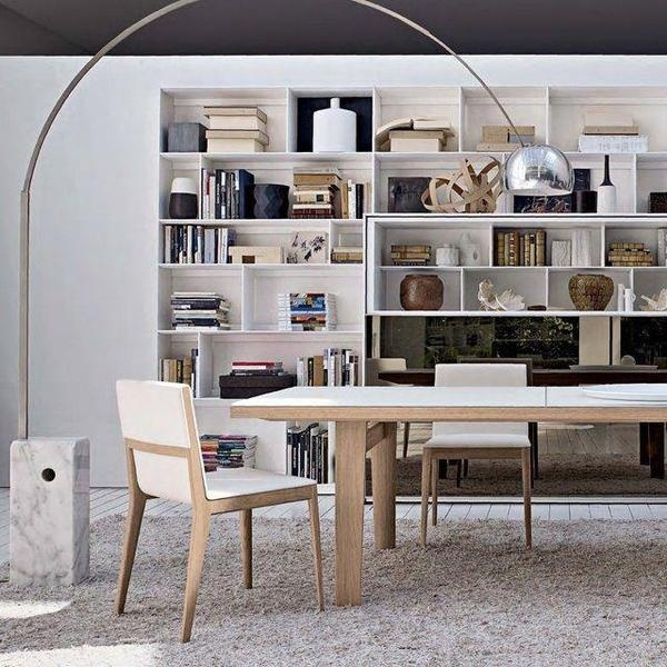 White topped dining table #interior #design #table