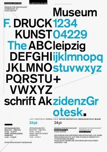 Museum für Druckkunst : JUNG + WENIG #design #graphic #akzidenz #poster #grotesk #typography