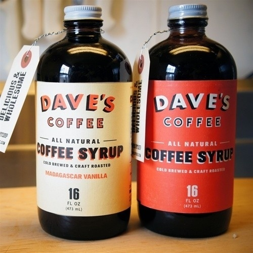 Packaging / Dave's Cold Brewed Coffee Syrup #packaging #coffee