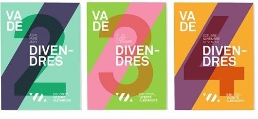 Txell Grà cia / Imatge grà fica Biblioteca Vicente Aleixandre #print #graphic design #typography #identity #layout #brochure #geometry #libr