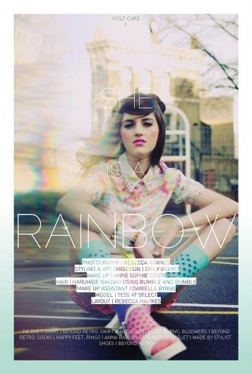 She Is A Rainbow | Volt Café | by Volt Magazine #beauty #design #graphic #volt #photography #art #fashion #layout #magazine #typography