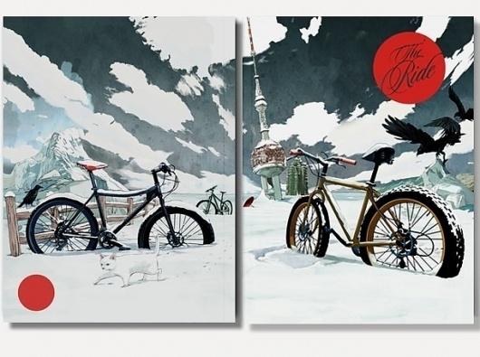 I Love Dust #cycling #illustration #raven #magazine
