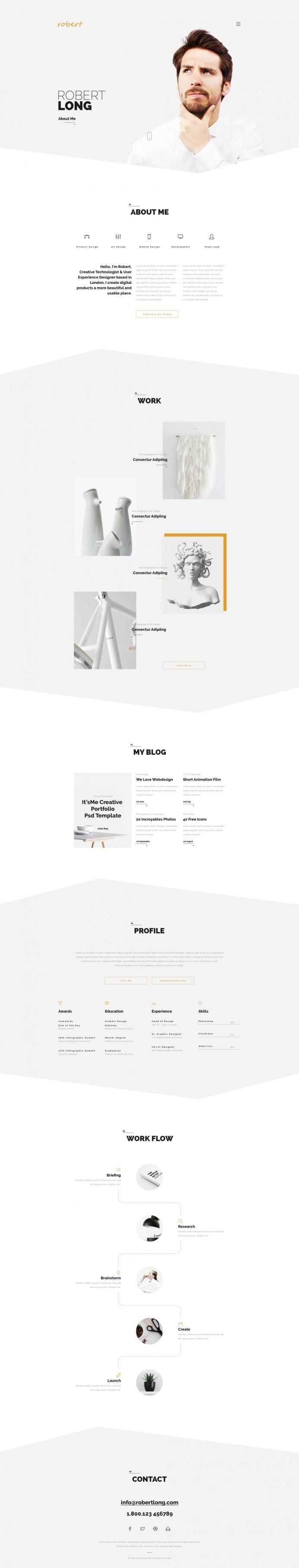 It's Me – Creative Personal Portfolio / Agency #portfolio #webdesign #creative