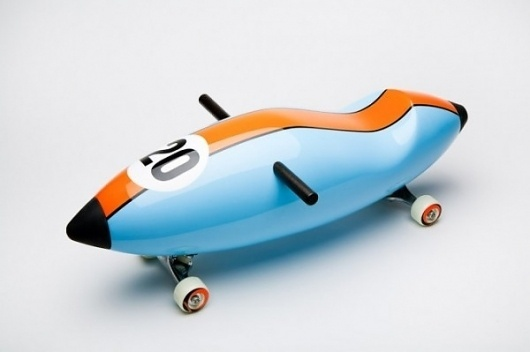 Designer torpedo scooters, y'know, for kids! | Colossal #toys #design #scooter #industrial #kids