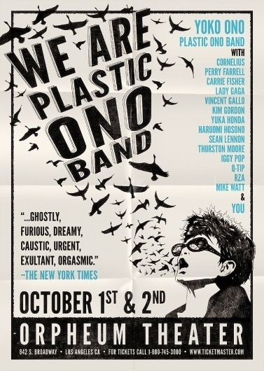 We Are Plastic Ono Band - The Made Shop #music #print #band #poster