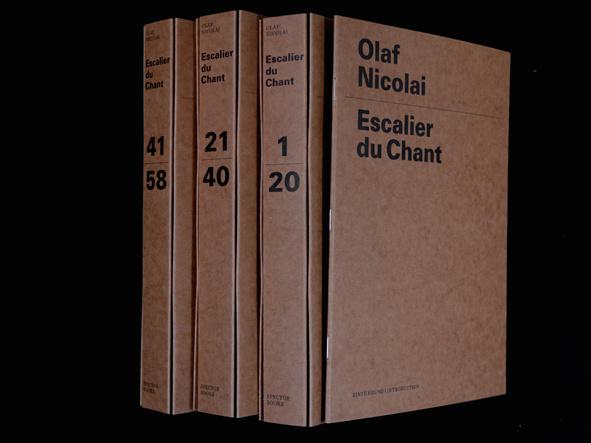 Escalier du Chant #book #craft #paper #folder #typography