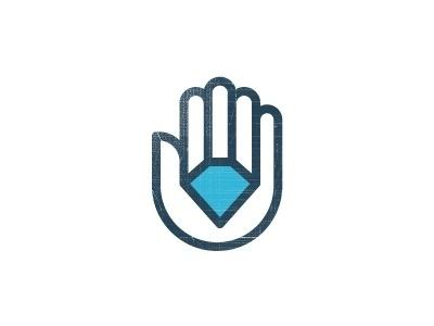 Dribbble - Diamond Auto Logo by Sean Farrell #line #diamond #wip #logo #hand