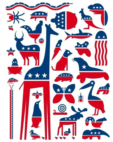 A call for more Party Animals #flag #politics #american #animals
