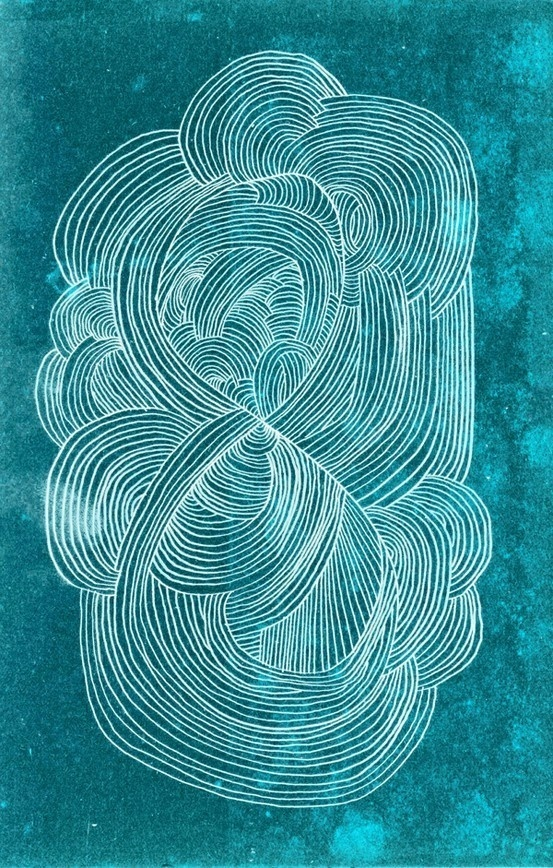 Jeff Rogers #line #white #illustration #blue #watercolour