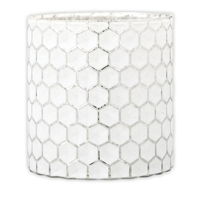 Melisand Glass Tealight Holder, 11.5cmH x 11cmD
