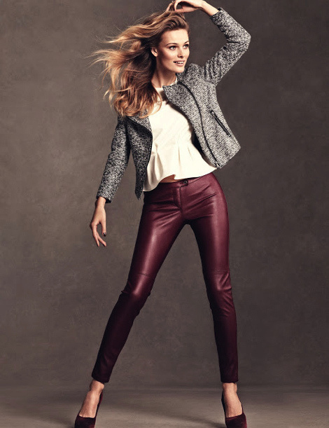 Edita Vilkeviciute for H&M Chile Collection 2013 #fashion #model #photography #girl