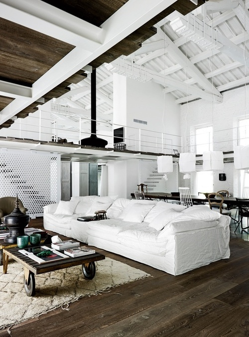 Kevin H. Chung #architecture #wood #white #interior #home #fireplace