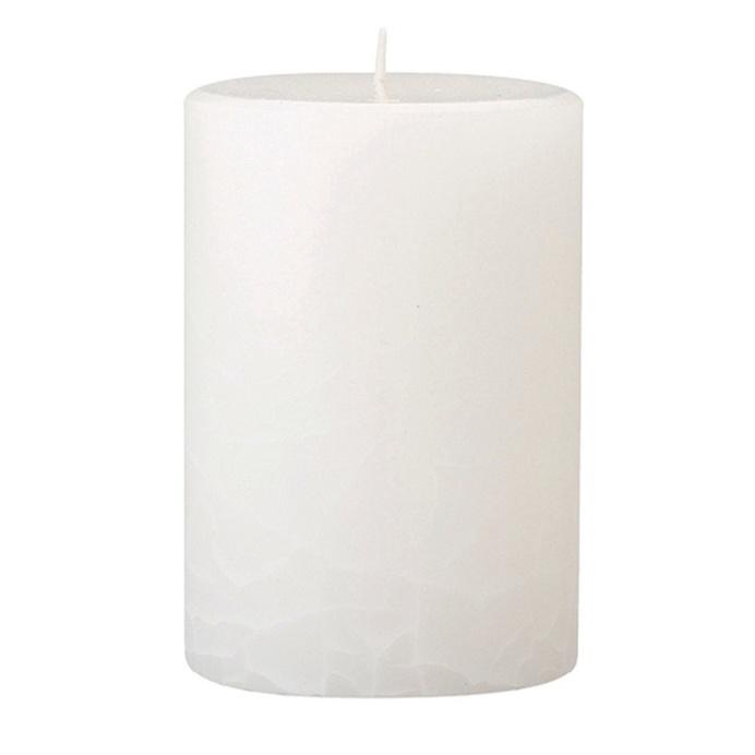 crackle pillar fresh cotton lavender scented candle 10 x 7 cm