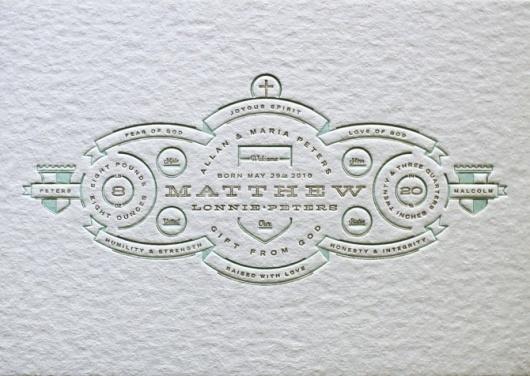 Allan Peters #letterpress #invitation