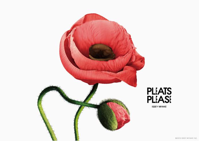 pleats please flowers by taku satoh #print #poster #ad #flower #layout
