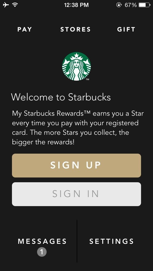 Starbucks #iphone #ui
