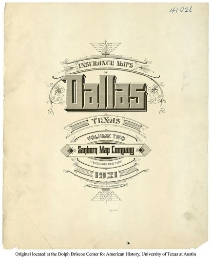 Sanborn Map Company title pages / Sanborn Insurance map - Texas - DALLAS - 1921 #typography #lettering 100% 3400 × 4159 pixels The Typography of Sanb