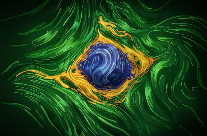 RAWZ #swirl #design #illustration #liquid #painting #art #colour #green