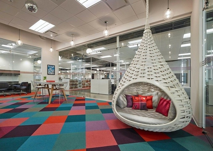 Stantec Designs Headquarters for Hospitality Upholstery Leader Valley Forge Fabrics 5