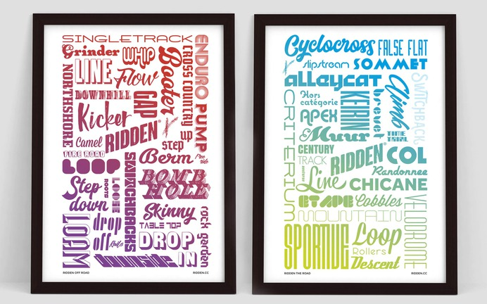 Ridden terms poster typography design