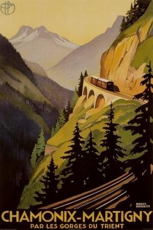 roger-broders-chamonix-martigny.jpg 299×450 pixels #viaduct #france #roger #martigny #travel #railway #poster #chamonix #broders