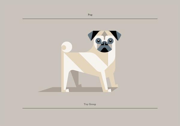 Pug #print #geometric