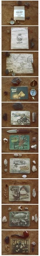 Hobo and Sailor   Travel Notes #branding #packaging #design #illustration #postcards #typography