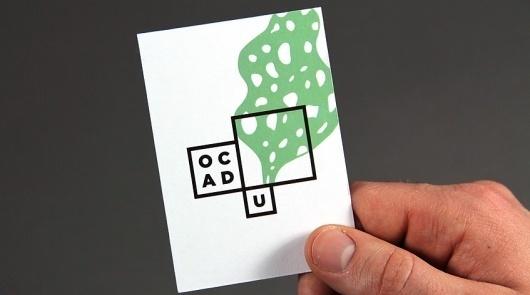 Bruce Mau's Smart Art-School Logo Is A Mini Art Gallery For Student Work   Co.Design #ocad #business #branding #card #school #design #graphic #identity