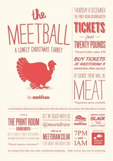 Absurd #turkey #christmas #poster #logo #typography