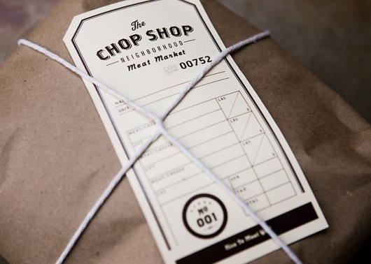Fonts In Use – The Chop Shop #packaging #typography