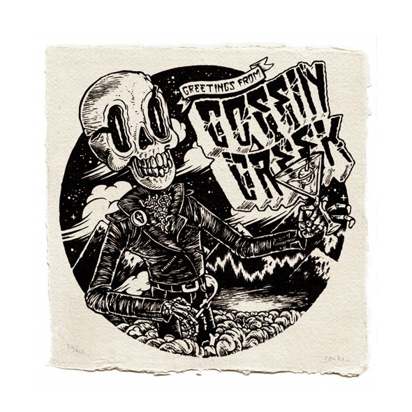 Coffin Creek - a multimedia book on Behance #skull #horror #illustration