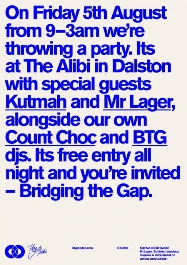 Bridging the Gap #london #btg #poster #gunter #type #ross