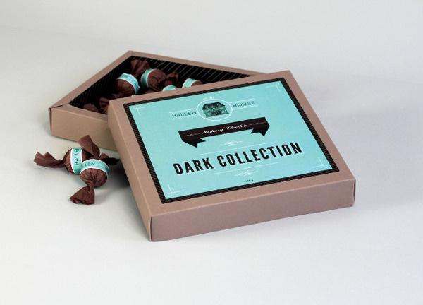Hallen House Chocolates Merren Spink #packaging #blue #chocolate