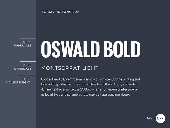 the basics of font pairings