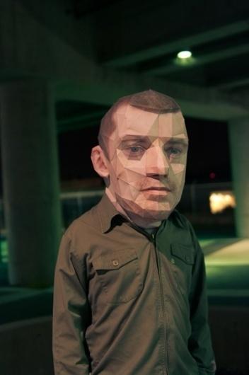 Papercraft Self Portrait - Art Portfolio for Eric Testroete #big #head #mode #eric #testroete #photography #007