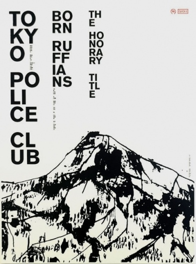 Tokyo Police Club — Sonnenzimmer #police #design #graphic #tokyo #poster #club #typography