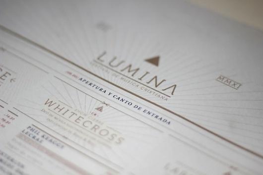 LUMINA - Festival de Musica Cristiana on the Behance Network #flyer #festival #lumina #poster