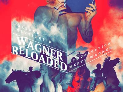 Wagner Reloaded #horses #red #gregor #reloaded #rock #palette #wagner #vintage #poster #music #metal #berlin #apocalyptica