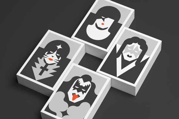 Re Vision — Postcards on Behance #pop #trading #culture #music #minimalist #cards #kiss